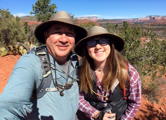 Dad and Talia hiking in Sedona